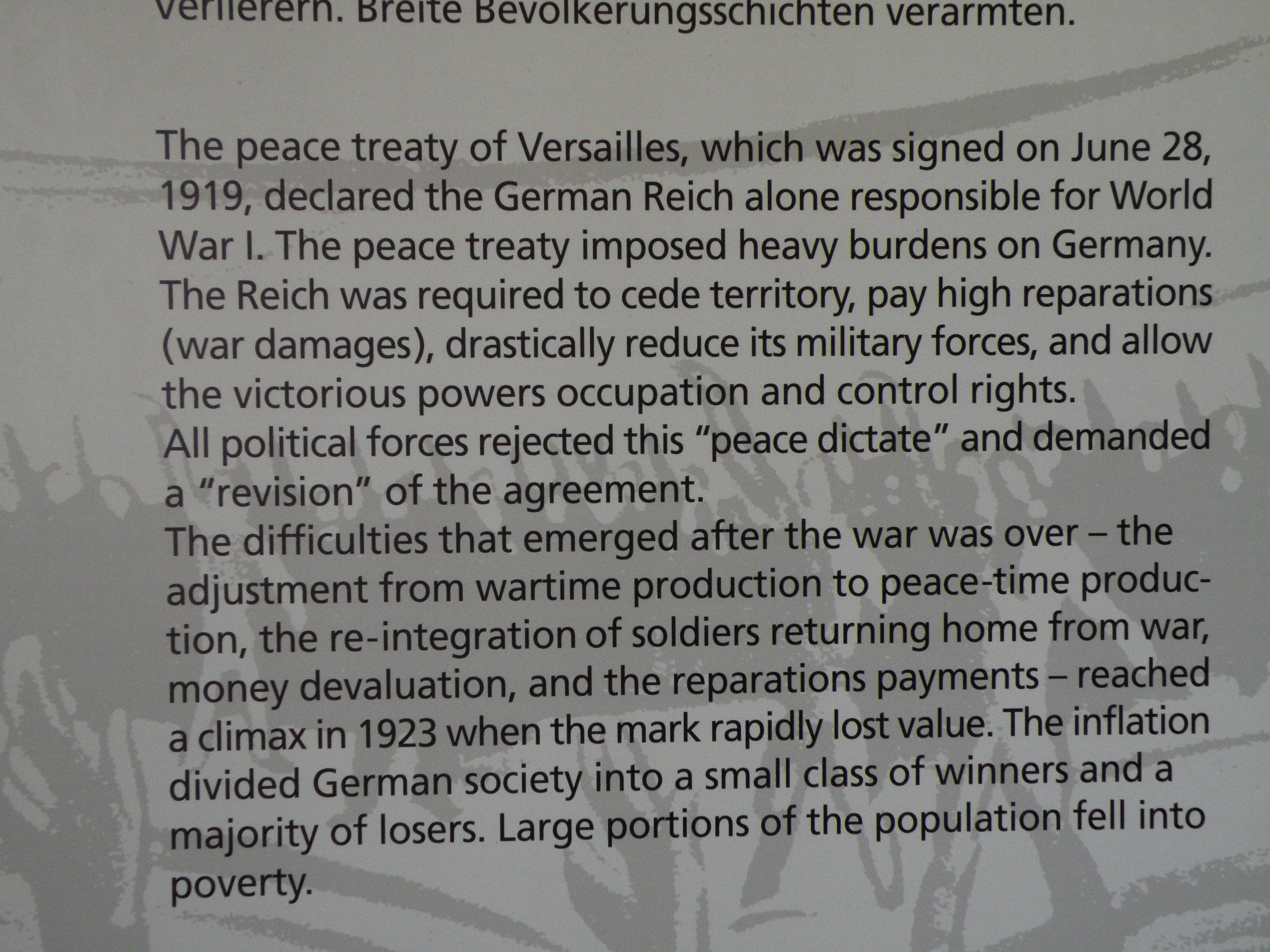 account of the treaty of versailles The treaty of versailles, negotiated by the fractious allies in the wake of the first world war, did not crush germany, nor did it bring her back into the family of nations antony lentin examines a tortuous process that sowed the seeds of further conflict.